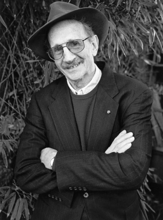 Portrait of Pulitzer prize-winning poet Philip Levine, Fresno, California, 1999. (Photo by Chris Felver/Getty Images)