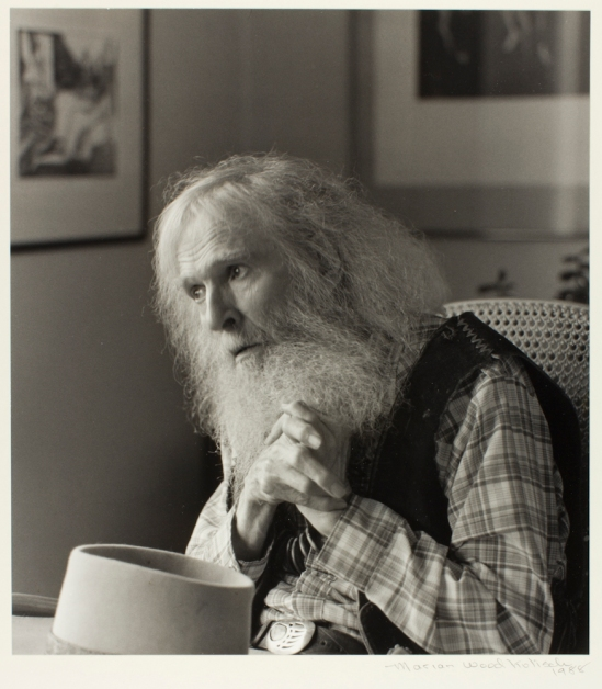 Marian Wood Kolisch (American, 1920-2008), William Everson, 1988, gelatin silver print, Bequest of Marian Wood Kolisch, © Portland Art Museum, 2009.30.16