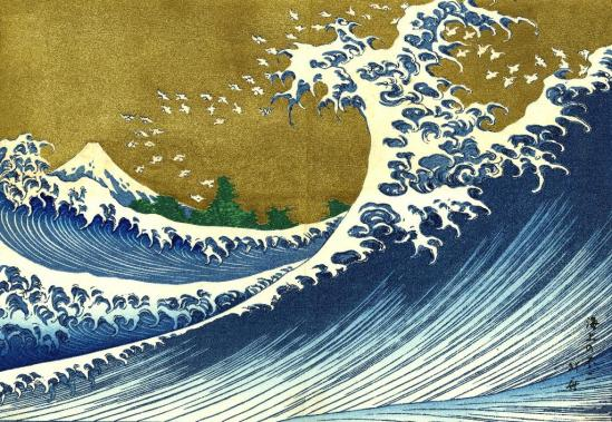 The Big Wave by Katsushika Hokusai
